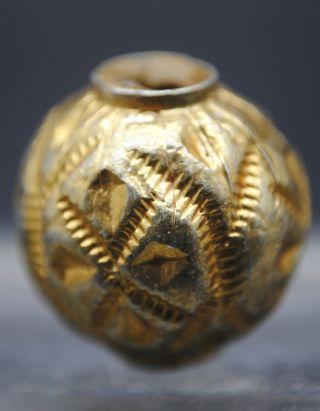 Post Medieval Islamic Gold Gilt Bead 17th - 18th C, photo