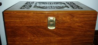 Asian Wooden Display Box With Pierced Lid photo