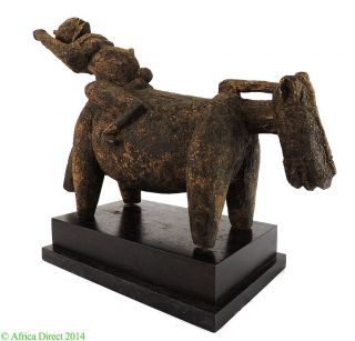 Dogon Horse And Rider Figure Tellem Posture On Stand Mali Afric Was $590.  00 photo
