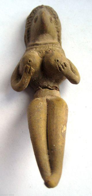Circa.  500 B.  C Bronze Age Shunga Culture Mother Goddess Terracotta Statue Idol photo