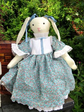 Primitive Antique Rabbit Bunny Raggedy Ann Country Doll Estate One Of A Kind photo