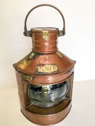 Vintage Tung Woo Copper Oil Lamp Lantern Nautical In photo