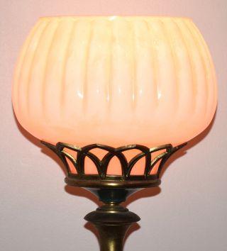 1930 ' S Stunning Antique / Art Deco Torchiere Floor Lamp Exc photo