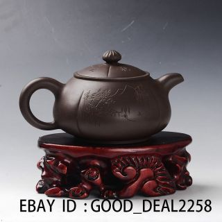 Old Antique Chinese Yixing Handmade Zisha Teapot photo