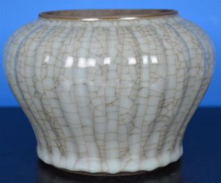 Exquisite Antique Chinese Crackle Porcelain Pot Rare Y6673 photo