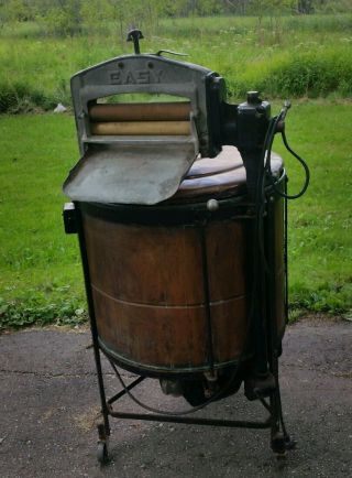 Fabulous Antique 1912 Easy Copper Washing Machine Model M 370107 photo