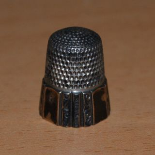 Simons Brothers Thimble May 28 1889 Patent 19th Century Fluted With Scroll photo