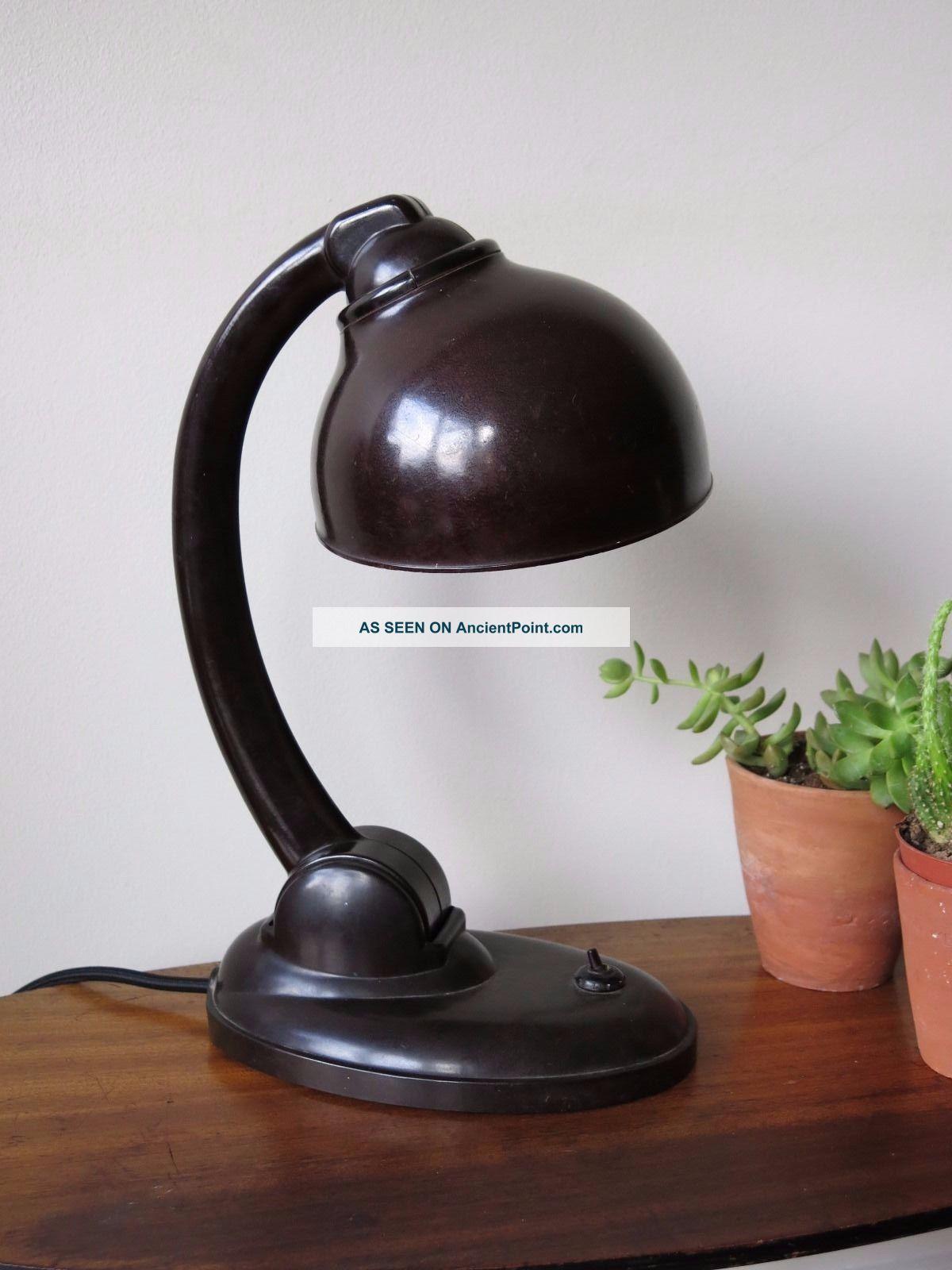 Vintage Bauhaus Bakelite Art Deco Desk Lamp E.  K.  Cole 20th Century photo