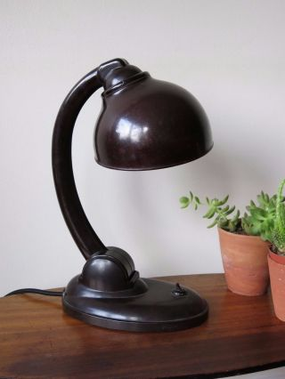 Vintage Bauhaus Bakelite Art Deco Desk Lamp E.  K.  Cole photo