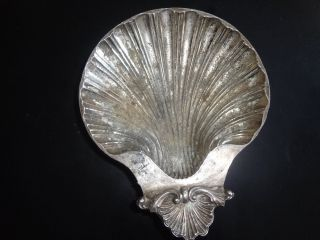 Vtg Silverplate Shell Ashray,  Reproduction Of Design Sheffield England 1700 - 1800 photo