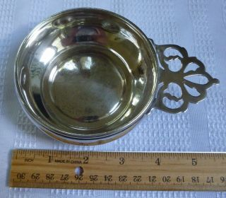 Antique Fisher Sterling Silver Baby Porridge Bowl With Handle photo