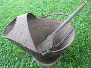 Vintage Reeves Coal /ash Bucket /shuttle And Shovel photo