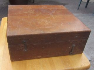 Negus Nautical Instruments Maritime Negus Ny Wooden Dovetail Box photo