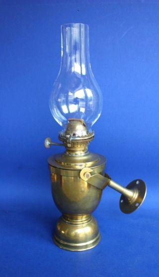 Antique Brass Ship Maritime Boat Oil Lamp Gimbel Sherwood ' S Burner England Uk photo