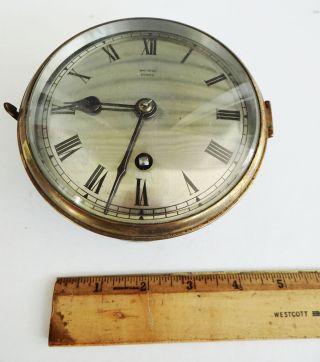 Fine Antique British Ship ' S Clock photo