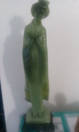 Vintage Jade Carved Statue photo