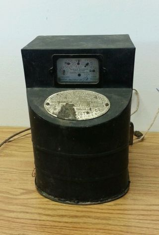 Antique Ge Thomson Recording Wattmeter Trw Old Electric Power Meter Pat.  1890 photo