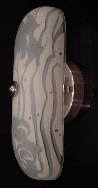 Authentic Art Deco Light Fixture,  Angel Fish,  Turtle And Snails photo