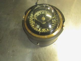 Vintage Brass Danforth Constellation Binnacle Compass 6