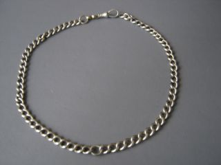 Victorian Sterling Silver Watch Chain Albert Chain photo
