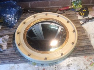 Convex Mirror C1930 Circular Cream And Gilt photo