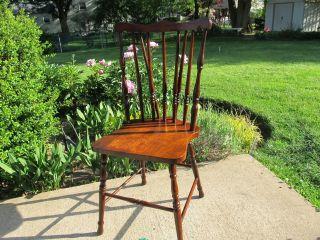 Vintage Braceback Windsor Side Chair photo