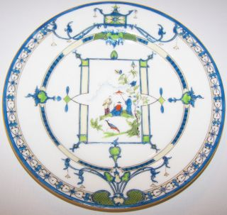 Antique Royal Worcester 1917 Plate Oriental Ovington Brothers York 8