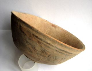 Circa.  2500 B.  C Bronze Age Harappan Culture Painted Terracotta Bowl photo