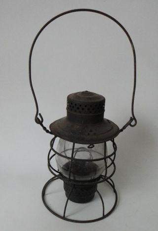 Antique Perkins Marine Lamp Corp Kerosene Lantern Brooklyn Ny Usa photo