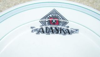 The Alaska Steamship Line ' The Alaska Line ' Vintage Small China Plate photo