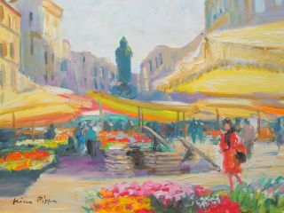 Impressionist Painting Of Rome By Listed American Orientalist Nr photo
