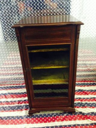 Antique Mahogany American Eastlake Stereo Music Record Cabinet 1800s photo