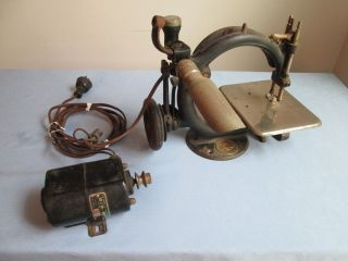 Antique Wilcox And Gibbs Sewing Machine Old Patents & Motor photo
