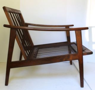 Vtg 50 ' S Mid - Century Danish Modern Lounge Wood Chair Italy Pearsall Selig Style photo