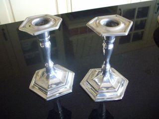 Silver Plated Candle Sticks photo