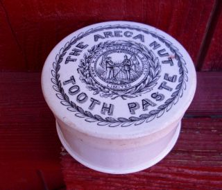 Antique,  Ceramic,  Ca 1900 - 10 Army & Navy Co - Op Tooth Paste Jar Pot Lid photo