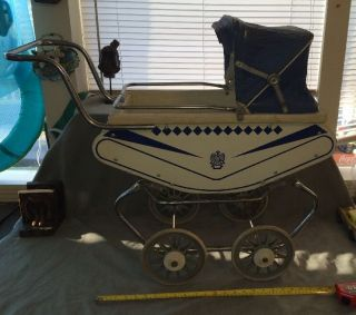 Rare Vintage Welsh Baby Doll Carriage Stroller Buggy Parts/upholstery photo