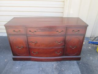 55378 Antique Mahogany Sideboard Buffet Server Cabinet photo