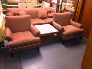 Contemporary Baker Furniture Arm Side Chairs After Barbara Barry 1940s photo