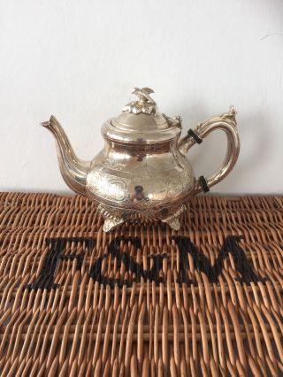 Fortnum & Mason / Louis Philippe Teapot Silver Plated photo