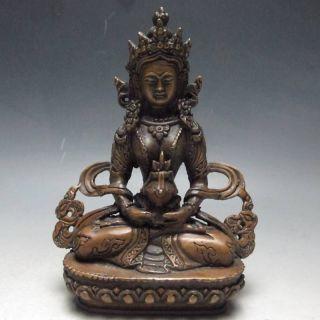 Rare Chinese Bronze Buddha Statue - - - Tara Buddha photo