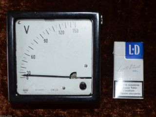 Vintage 1960`s Large Laboratory Voltmeter 0 - 150 Volt Scale Precise Analogue photo
