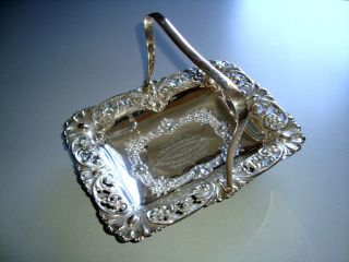 Antique Silver Plate Ornate Handled Footed Dish Bowl Boardman & Glossop C1870 photo