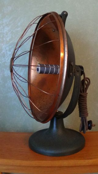 Antique 1919 Westinghouse Copper And Cast Iron Radiant Heater / photo