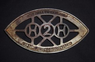 Vintage Humphrey Gas Iron General Specialty Co H2h Iron Trivet photo