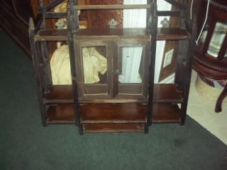 Antique Hanging Cabinet.  Salvage Item photo
