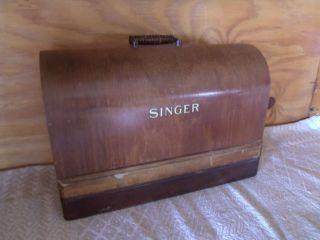 Vintage 1906 Singer Sewing Machine Bentwood Case photo