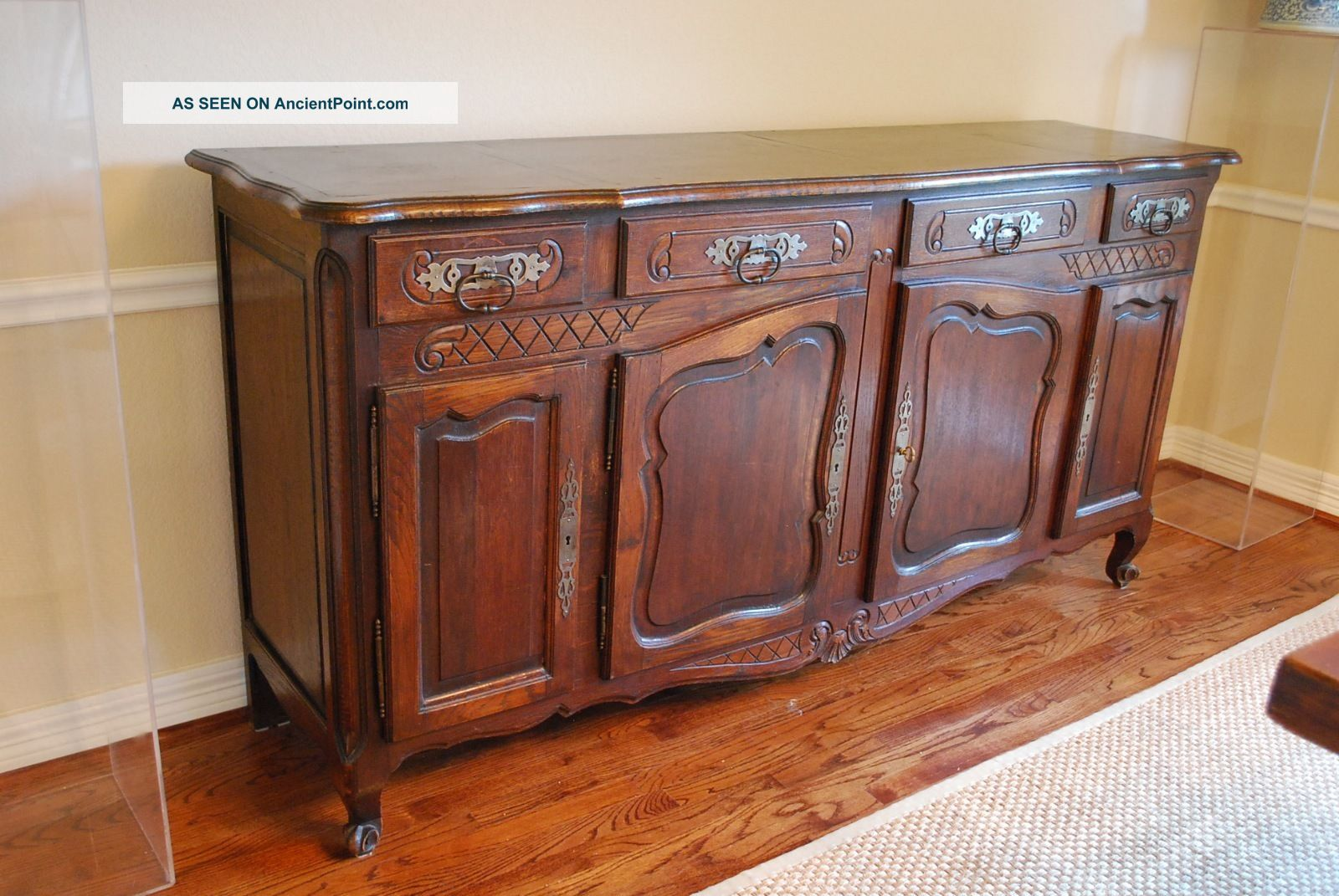 Antique French Carved Buffet 19th Century Oak 1800-1899 photo