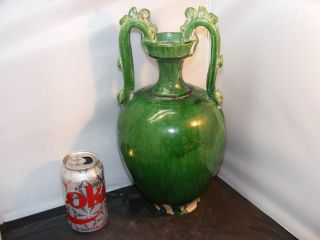 Chinese Song Dynasty Green Glaze Vases Antique Chinese Monochrome Dragon Vases photo