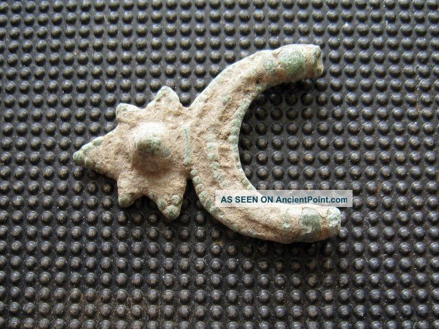 Antiques Byzantine Bronze Earring Found With Metal Detector Byzantine photo